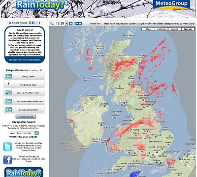 UK SNOW MAP
