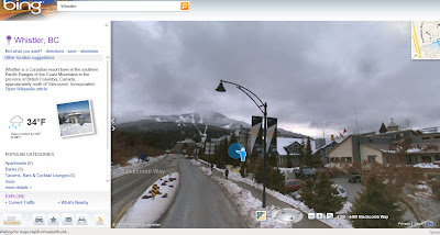 Streetside Bing Maps Whistler
