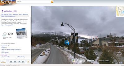 Streetside Bing Maps Whistler