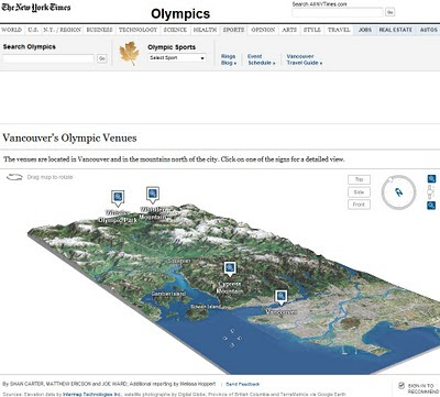New York Times Olympic Venues Mapped - 3D Animated