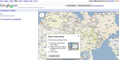 Google Maps Labs Drag Zoom