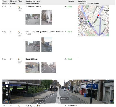CycleStreets.net Route with UK Streetview