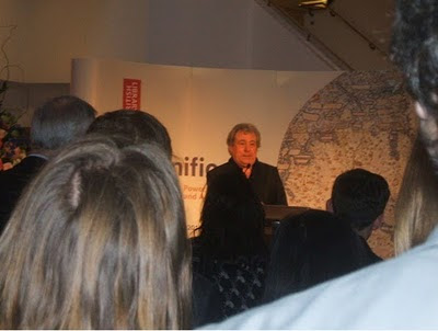Terry Jones Opening the Magnificent Maps exhibition