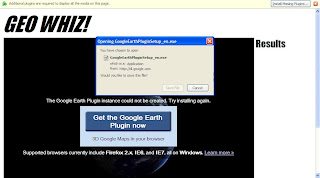 Google Earth Web Browser Version Plugin Require for 3D
