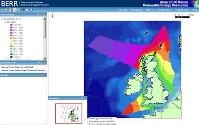 BERR UK WAVE POWER MAP