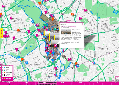London Olympic 2012 Puilding Progress Map