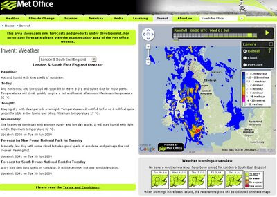 The Met Office Weather using Google Maps 1st July