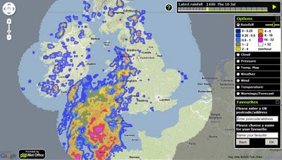 Met Office - Rainfall Radar Weather