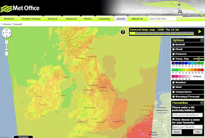 Met Office - Temperature Map Weather