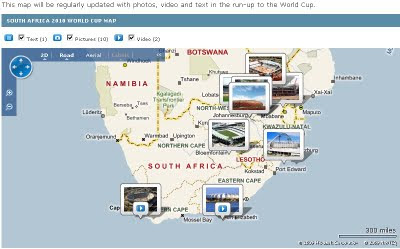 BBC Sport World Cup 2010 Map