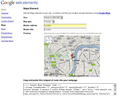 Google Maps - Web Elements Maps
