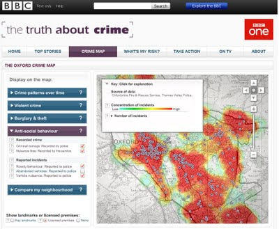 Truth About Crime BBC Heat Map