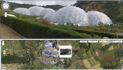 Eden Bio-domes Streetview Coverage
