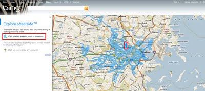 BING Maps Explore Streetside