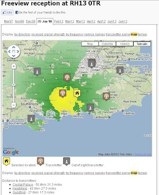 UKFreeTV  Creates Freeview Digital Coverage Map Example