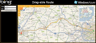Bing Maps Dragged Route