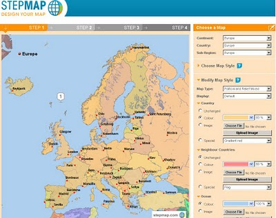 Step Maps - Create Free World Maps - Step1