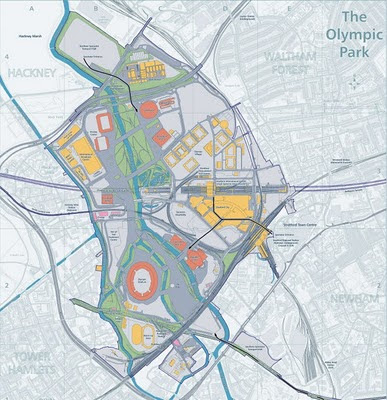 Olympic Park Ordnance Survey Map
