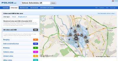 Crime Maps  England & Wales