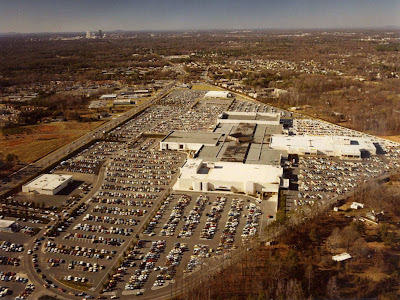 Eastland Mall, Charlotte, North Carolina. Aerial view, circa 1980 (courtesy