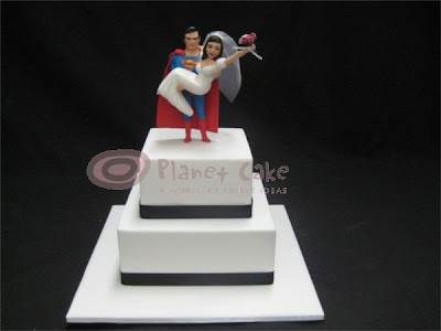 wedding cake at PC and this one created for a couple of big Superman