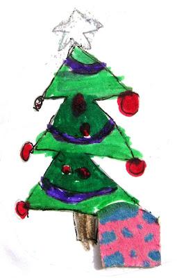 Desenho de uma árvore de Natal