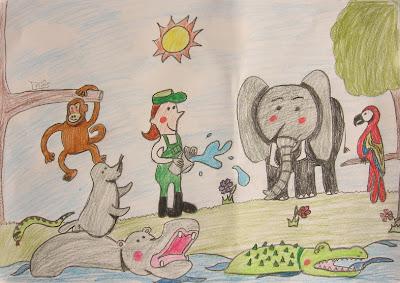 desenho do Jardim Zoológico