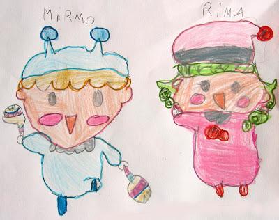 desenhos do Mirmo!