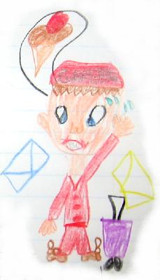 Desenho de um carteiro