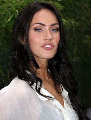megan fox hair highlights. megan fox hair colour. megan