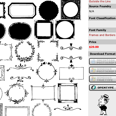 flower borders and frames. frames and orders. clip art