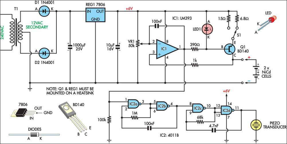 nicad battery charger schematic