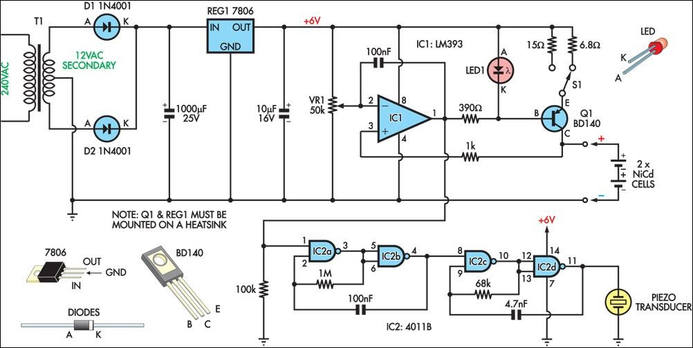 Problems With A Super Simple Lm317 Charger Circuit together with Pulse Charger For Reviving Tired Lead Acid Batteries further Make This Solar Powered Fence Charger additionally Circuit Symbols together with 523bl1. on nicad battery charger circuit diagram