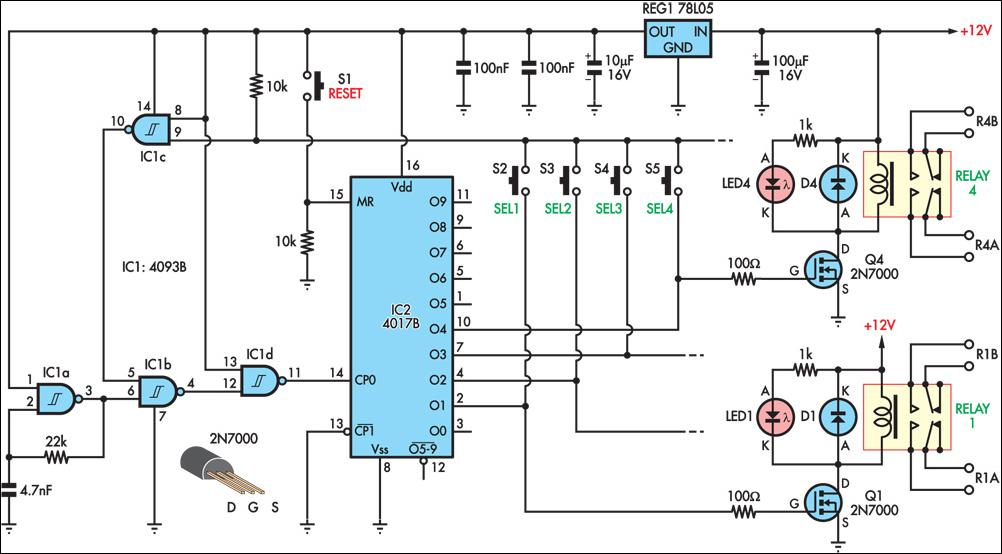 push button relay selector wiring and diagram pushbutton relay selector