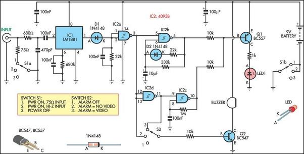 Video tracer for trouble-shooting circuit schematic