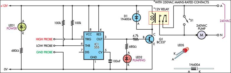 Schematic Reference  Cheap Pump Controller