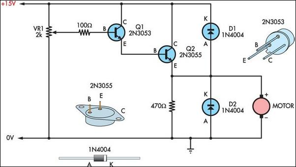 DC Motor Speed Control Circuit Diagram on 3 5 mm stereo plug wiring diagram
