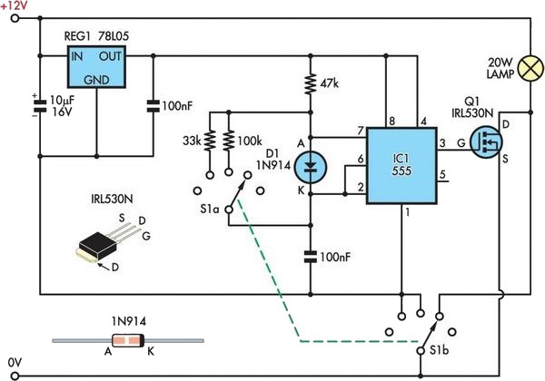 12V halogen dimmer circuit schematic