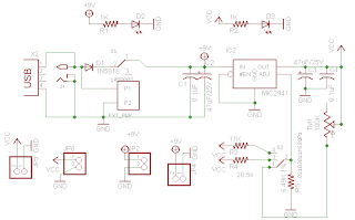 Very Low Dropout Adjustable Breadboard Power Supply Circuit Diagram