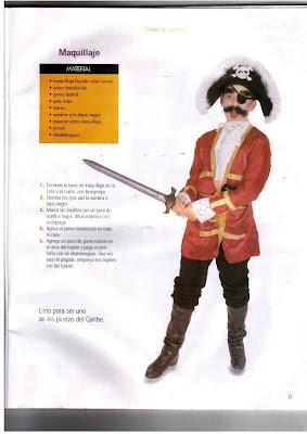 disfraz de pirata para coser en casa, moldes disfraz pirata para ...