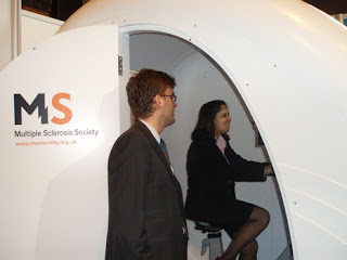Anjuli Veall in the MS Simulator