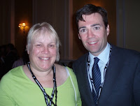 Tina Walker and Andy Burnham MP