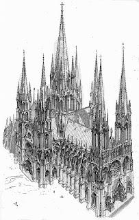 Dibujos de catedrales goticas  Galeria de Imagenes