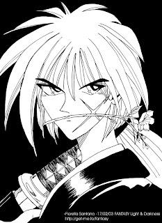 dibujos manga en blanco y negro