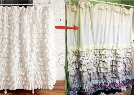 The Handmade Hipster: Ruffled Anthro/Urban Shower Curtain