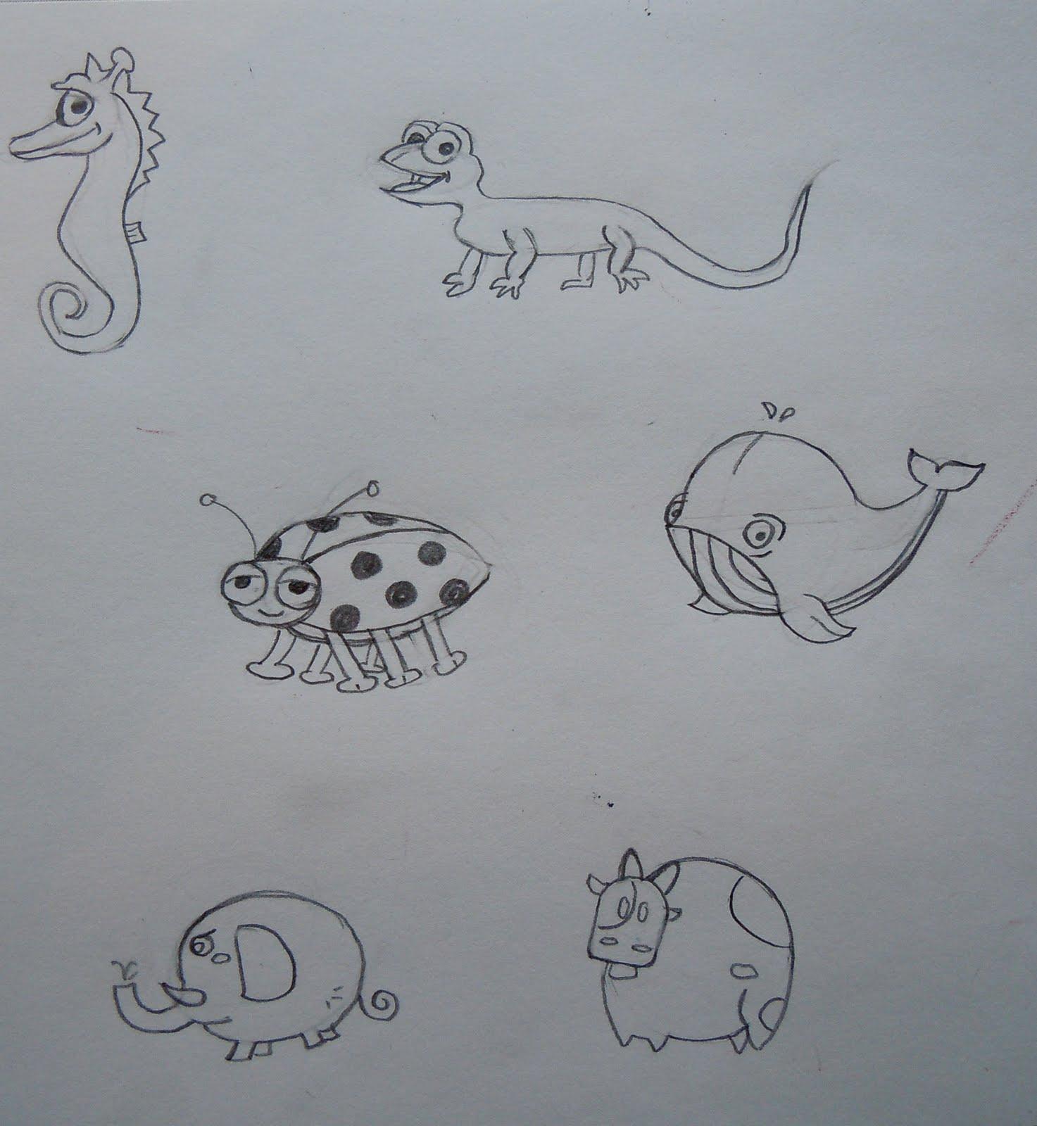 Cute Little Cartoon Animals to Draw