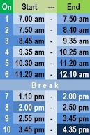 PendtoffA Schedule