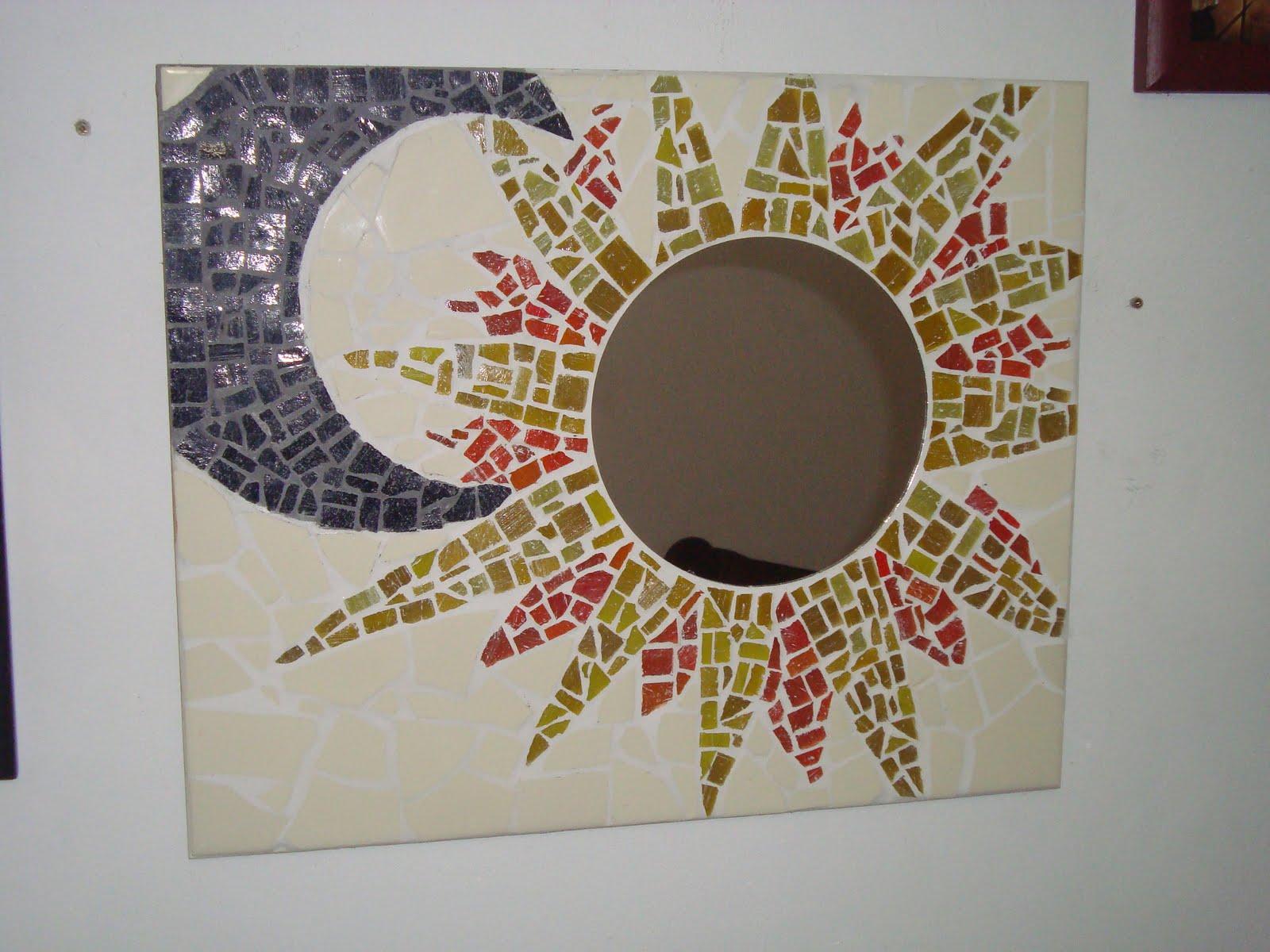 Elfo artesanias espejo con mosaico veneciano y azulejo for Mosaicos para espejos