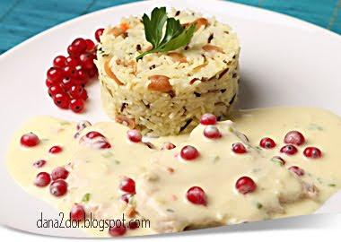 Articole culinare : Orez basmati in amestec cu orez salbatic, cu arahide