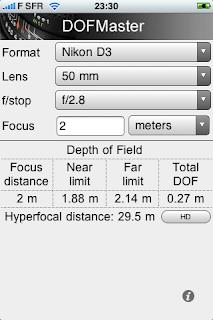DOF Master - Calcul de la profondeur de champs